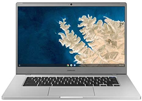 "SAMSUNG XE350XBA-K01US Chromebook 4 + Chrome OS 15.6"" Full HD Intel Celeron Processor N4000 4GB RAM 32Gb Emmc Gigabit Wi-Fi, Silver"