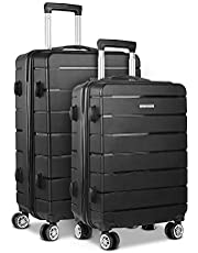 Wanderlite 3pcs/2pcs Luggage Suitcase Sets with Hard Shell and Dual Wheels
