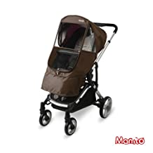[Manito] Elegance Beta Cover / Cover for Baby Stroller and Pushchair, Rain Cover, Wind Weather Shield for outdoor strolling, Eye Protective Wide Windows (Choco)