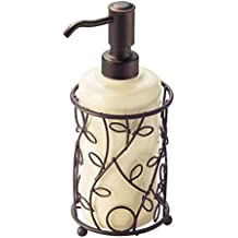 InterDesign Twigz Soap and Lotion Dispenser Pump, for Kitchen or Bathroom Countertop- Vanilla/Bronze
