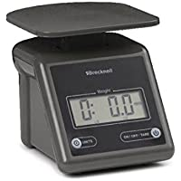 Brecknell Electronic Postal Scale, 7 Lbs Capacity, 6-4/5 x 5-3/5 Inches Platform, Gray (PS7)