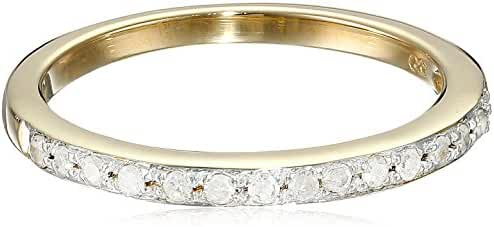 10k Gold Round-Cut Diamond Ring (1/6 cttw, J-K Color, I2-I3 Clarity)