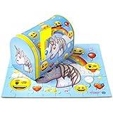 DaHo Mail Box Tin with Puzzles Inside 48 pcs (Emoji Unicorn)