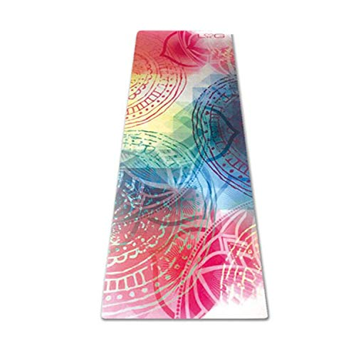 Love Generation Vollfarbige Tie&Dye Yoga-Matte - Naturkautschuk