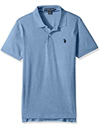 Men's Slim Fit Solid Short Sleeve Jersey Polo Shirt