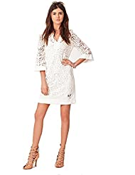 Hale Bob Womens Christelle Embroidered Mesh Dress - 5HTF6935