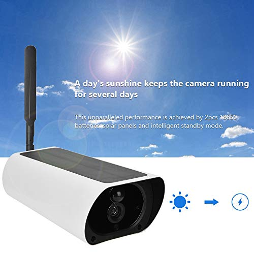 Outdoor Solar Camera, 4G Solar Powered 1080P HD Camera Outdoor Waterproof CCTV Night Vision Security Camera(#3)