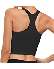 Womens Sports Top Yoga Bra Tanks Removable Padded Workout Running Tank Tops Sports Bras