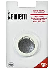 Bialetti 0800003 Moka 3 Cup Replacement Filter and 3 Gaskets
