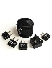 Ceptics - Adaptador de alta calidad para enchufes de EE.UU a asiáticos o europeos. Certificados CE - Cumple con RoHS