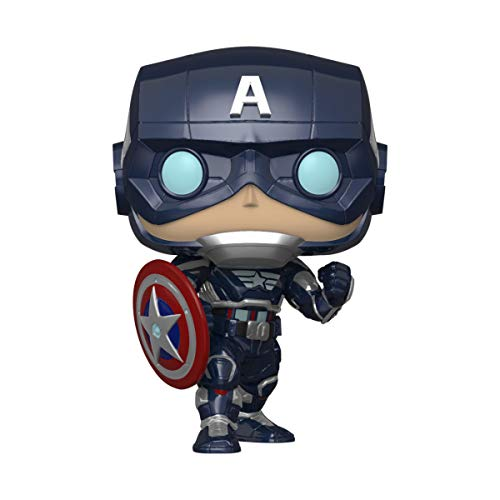 Funko Pop! Marvel Avengers Game- Capt America, Multicolor (Stark Tech Suit)