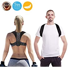 Posture Corrector for Men and Women - Upper Back Brace for Clavicle Support and Providing Pain Relief from Neck, Back & Shoulder