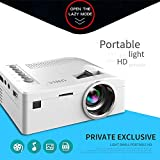 OUYAWEI HD 1080P TFT LCD Home Mini Proyector TV Multimedia Player Theater Home Cinema Video Projector Color Blanco US Plug
