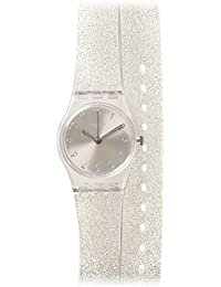 Glistar Silver Pearl Dial Transaprent Double Wrap) Strap Ladies Watch LK343