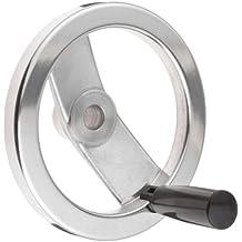 "Powder Coated with 1//2/"" Bore Hand Wheel 6 Inch 2 Spoke w// Folding Handle Alum"