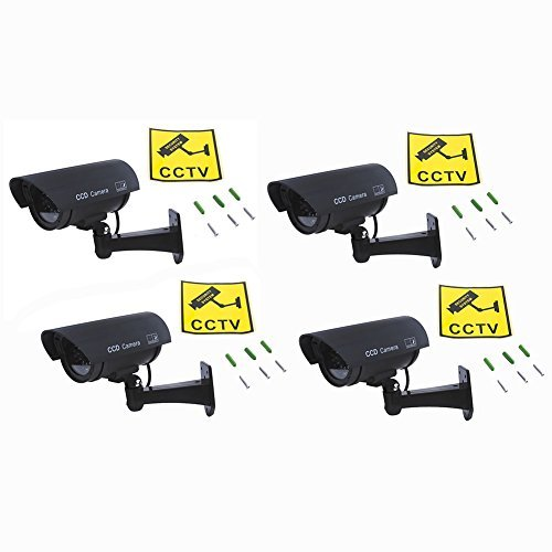 Neewer Waterproof LED AA Simulated Dummy CCTV Security ...