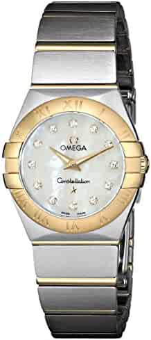 Omega Women's 123.20.24.60.55.002 Mother-Of-Pearl Dial Constellation Watch