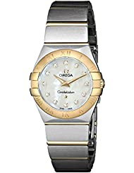 Omega Womens 123.20.24.60.55.002 Mother-Of-Pearl Dial Constellation Watch