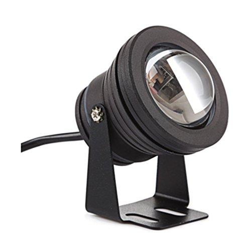 Waterproof IP67 Underwater Light 10W RGB LED Color Changing Flood Light Remote Control Spot Light for Aquarium Garden Pond Pool Tank - Black