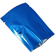 200 Pcs 6x9cm(2.4x3.5 inch) Aluminum Foil Sample Giveaway Sealable Pouch For Bath Nut Powder Coffee Jerky Bulk Food Storage Bag Heat Seal 3.1mil Mylar Foil Vacuum Sealer Mini Packing Cosmetic Sampling