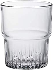 Duralex Empilable Glass Tumbler (Set of 6), 7 oz, Clear
