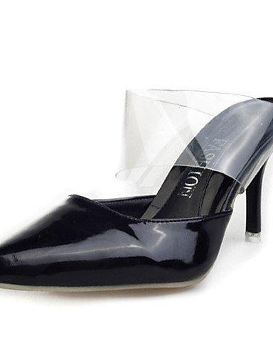 GGX  Damen-High Heels-Lässig-Lackleder-Stöckelabsatz-Absätze-Schwarz   Blau   Lila   Weiß B01KL7XXYQ Sport- & Outdoorschuhe Modebewegung