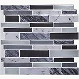 "Vamos Tile Peel and Stick Tile Backsplash,3D Self Adhesive Wall Tiles for Kitchen & Bathroom-11.25"" x 10""(6 Tiles)"