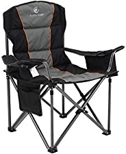 ALPHA CAMP Oversized Camping Folding Chair Heavy Duty Support 450 LBS Oversized Steel Frame Collapsible Padded