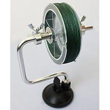 Línea de pesca carrete carrete sistema de spooler accesorio Plata aparejos de pesca Herramienta