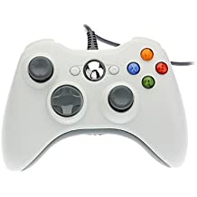 ostent Wired Controller Gamepad para Microsoft Xbox 360consola PC Computer vídeo Juego de color blanco