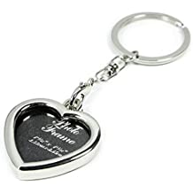 Yosoo Mini Creative Metal Alloy Buckle Insert Photo Picture Frame Keyring Keychain Ring Keyfob Gift