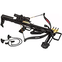 Bruin Attack 265 Recurve Crossbow Package w/Scope, Bolts, Quiver, Cocking Rope