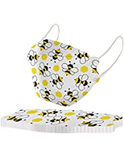 Adult's Disposable Face Masks - Unisex Bee Printed Outdoor Prevention Fish Mask Comfortable Breathable Mask Party Festival Masks