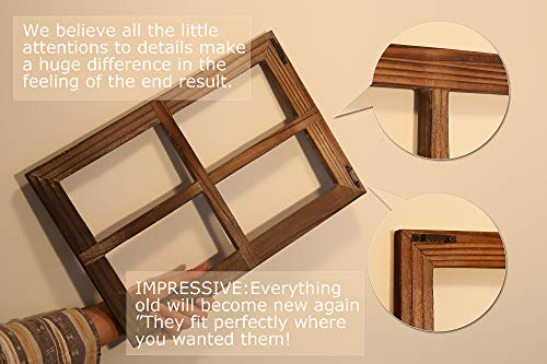 Rustic Wall Decor-Home Decor Window Barnwood Frames -Room Decor for Home or Outdoor, Not For Pictures