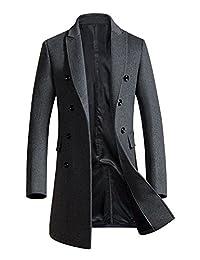 Men's Classic Winter Jacket Wool Pea Coat