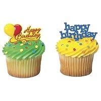 Happy Birthday Cupcake Picks (24-Pack)