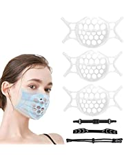 3D Silicone Face Mask Bracket Silicone Mask Inner Support Frame with Mask Strap Lanyard Face Lipstick Protector Protection Comfortable Breathing