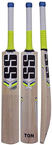 SS Cricket Kashmir Willow Cricket Bat,Bat Cover Included : 2021 Edition, Short Handle - Full Size