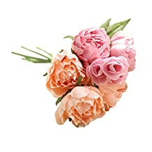 Compia A bunch of Artificial Fake Silk Cloth Flowers Lotus Floral Bouquet Wedding Party Home Decor