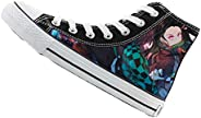 Gumstyle Demon Slayer: Kimetsu no Yaiba Anime Unisex Canvas Shoes Casual High Top Sneakers Flats Plimsolls Lac