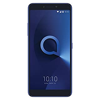 Alcatel 3V Unlocked Smartphone 6 inch Android 18:9 HD Display, Upto 16 MP (12MP + 2MP) Depth Rear Dual Cameras Android 8.0 Oreo Latest Go Edition Ultra-Fast 4G LTE GSM 16 GB ROM + 2 GB RAM -Blue