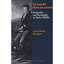 MONDE DANS UN CARNET (LE) : ALEXANDER VON HUMBOLDT EN ITALIE (1805)