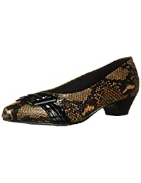 Soft Style Women's Pleats BE with You/Natural Python Stiletto