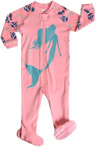 Babyroom Little and Baby Girls Footed Flamingo Pajamas Sleeper 100% Cotton  Size 6M-5T 8ab46cabc