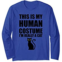 This Is My Human Costume I'm Really Cat Long Sleeve T Shirt