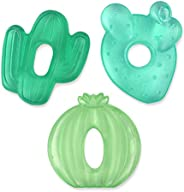 Itzy Ritzy Water-Filled Teethers; Set of 3 Coordinating Cactus Water Teethers; Cutie Coolers are Textured On B