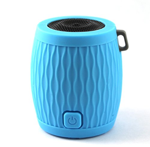WAAV Rocker Mini Bluetooth Speaker for iOS (Blue), iPhone, iPod, iPad and Android devices (Deluxe)