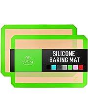 Zulay Kitchen Silicone Baking Mat Sheet Set - Reusable Baking Mat Nonstick - Half Sheet Baking Mat For Oven - Dark Gray