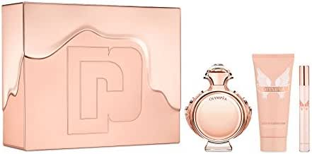 Paco Rabanne Paco Rabanne Olympea for Women 3piece Tin Box Set (2.7 Oz Eau De Parfum Spray/ 3.4 Oz Body Lotion/ 10 Ml Eau De Parfum Spray), 6.2 Oz