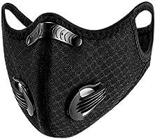Susenstone - Bandanas faciales con válvula de respiración, reutilizables, lavables, a prueba de polvo, resistente al...